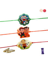 Siddhi Sales Set Of 03 Kids Rakhis, Only Rakhi Set...