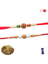 Siddhi Sales Set Of 02 Premium Rakhi With Dryfruit...