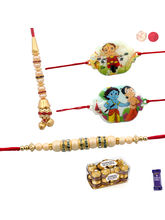 Siddhi Sales Set Of 04 Premium Rakhi With Chocolat...