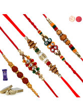 Siddhi Sales Rakhi For Rakshabandhan Set Of 5, Onl...