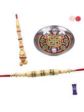 Siddhi Sales Beautiful Bhaiya Bhabhi Rakhi Set Wit...