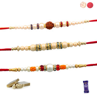 Siddhi Sales Pack Of 03 Fancy Rakhis, Only Rakhi S...
