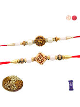 Siddhi Sales Rakhi Set Of 02 With Dryfruits, Rakhi...