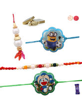 Siddhi Sales Set Of 04 Rakhis, Family Rakhis, Only...