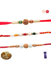 Siddhi Sales Set Of 03 Premium Rakhi With Dryfruit...