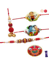 Siddhi Sales Family Rakhi Set With Pooja Thali, Ra...