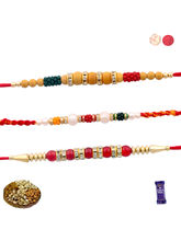 Siddhi Sales Set Of 03 Rakhi With Mix Dryfruits, R...