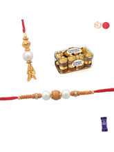 Siddhi Sales Buy Bhaiya Bhabhi Rakhi Set With Choc...