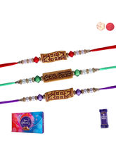 Siddhi Sales Rakhi With Chocolate Sweet Hamper