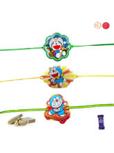 Siddhi Sales Set Of 03 Rakhi Gift For Brother, Onl...
