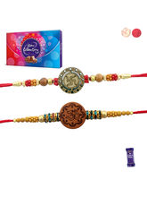 Siddhi Sales Rakhi With Chocolate Pack - Set Of 02...
