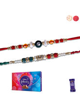Siddhi Sales Set Of 2 Rakhis And Chocolate