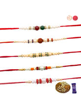Siddhi Sales Buy Set Of 05 With Dryfruits, Rakhi W...