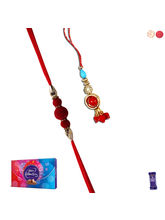 Siddhi Sales Bhaiya Bhabhi Rakhi Set With Chocolat...