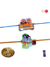 Siddhi Sales Kids Rakhi Gift Set - 02 Kids Rakhis,...