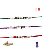 Siddhi Sales Set Of 03 Pearl Rakhis, Only Rakhi Se...
