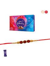 Siddhi Sales Rudraksh Rakhi With Chocolate
