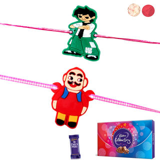 Siddhi Sales Set Of 2 Rakhi With Celebration Choco...