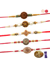 Siddhi Sales Rakhi Set Of 05 With Dryfruits, Rakhi...