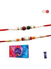Siddhi Sales Set Of 02 Rakhi With Celebration Choc...