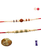 Siddhi Sales Rakhi For Brother - Set Of 2 Rakhi Wi...