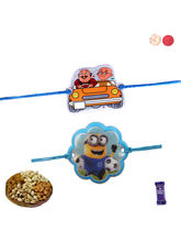 Siddhi Sales Set Of 02 Kids Rakhi With Dryfruits, ...