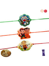 Siddhi Sales Kids Set Of 3 Rakhis With Dryfruits, ...