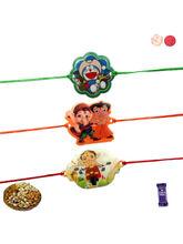 Siddhi Sales Kids Set Of 3 Rakhis With Dryfruits, ...