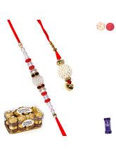 Siddhi Sales Premium Bhaiya Bhabhi Rakhi Set With ...