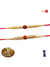Siddhi Sales Designer Set Of 02 Rakhi With Dryfrui...