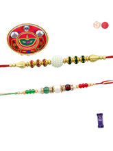 Siddhi Sales Set Of 02 Rakhis With Thali, Rakhi Wi...