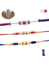 Siddhi Sales Set Of 03 Rakhi With Thali, Rakhi Wit...