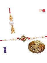 Siddhi Sales Send Bhaiya Bhabhi Rakhi Set - Dryfru...