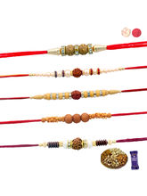 Siddhi Sales Rakhi Dryfruits With Set Of 5 Rakhis,...