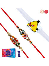 Siddhi Sales Set Of 3 Rakhis With Chocolate