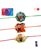 Siddhi Sales Pack Of 03 Rakhi With Chocolate, Rakh...