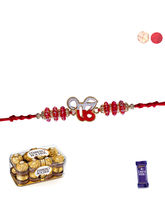 Siddhi Sales Rakhi With 16 Pc Ferrero Rocher Chocolate
