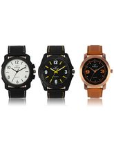 Volga Designer Stylish Men's Watch Combo Pack (VL-W05-13-17-21)