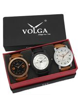 Volga Designer Stylish Men's Watch Combo Pack (VL-W05-21-27-38)