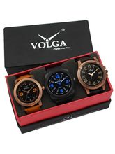 Volga Designer Stylish Men's Watch Combo Pack (VL-W05-21-23-32)
