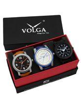 Volga Designer Stylish Men's Watch Combo Pack (VL-...