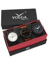 Volga Designer Stylish Men's Watch Combo Pack (VL-W05-15-19-38)