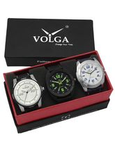 Volga Designer Stylish Men's Watch Combo Pack (VL-W05-18-24-40)