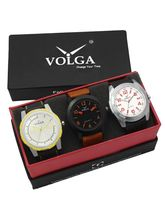 Volga Designer Stylish Men's Watch Combo Pack (VL-W05-19-29-43)