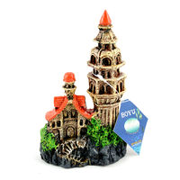 Boyu Aquarium Decoration CW-33 (Castle and Tower)