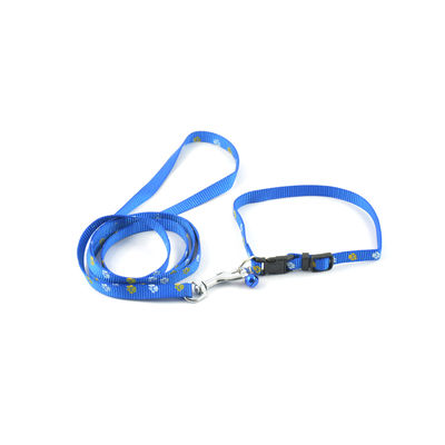 Easypets CASUAL Nylon Adjustable Quick-Klip Dog Collars (Medium) (Blue)