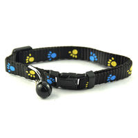Easypets Adjustable Cat collar with bell (Black)