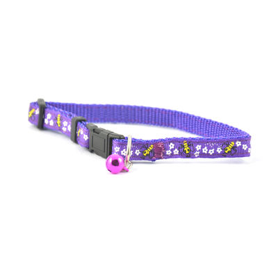 Easypets Fancy Cat collar and bell (Purple)