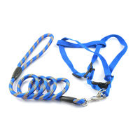 Easypets TRUECHOICE Dog Leash with Collar (Medium) (Blue)
