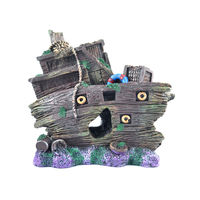 Ocean Free Aquarium Decoration (Broken Ship)